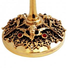 Ciboriu placat cu aur 19.5 cm