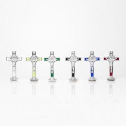 Cruce benedictina cu talpa plastic 7.8cm