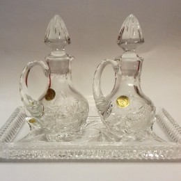 Paharute liturgice din cristal Bohemia cu tavita