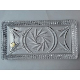 Tavita din cristal Bohemia, 9.5x19 cm